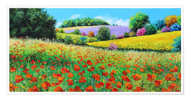 Póster Flower meadow in the province