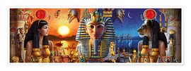 Póster  Egyptian Triptych 2 - Andrew Farley