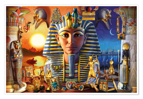 Póster Egyptian Treasures