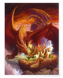 Póster  Children of the Dragon - Jeff Easley