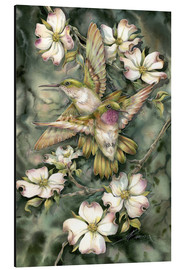 Cuadro de aluminio  Hummingbirds and flowers - Jody Bergsma