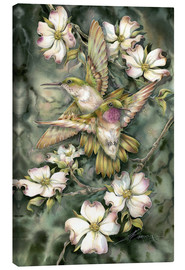 Lienzo  Hummingbirds and flowers - Jody Bergsma