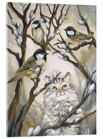Cuadro de metacrilato  Cat and birds - Jody Bergsma