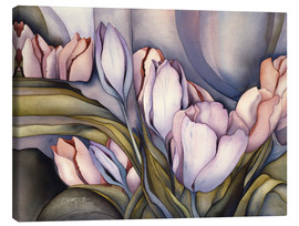 Lienzo  River of tulips - Jody Bergsma
