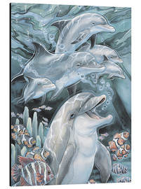 Cuadro de aluminio  Peace, Love and Laughter - Jody Bergsma