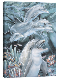 Lienzo  Peace, Love and Laughter - Jody Bergsma