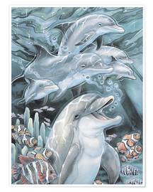 Póster  Peace, Love and Laughter - Jody Bergsma