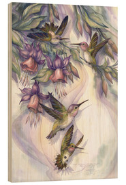 Cuadro de madera  Love is the joy of life - Jody Bergsma