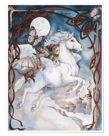 Póster  Child Riding On Horse - Jody Bergsma