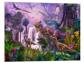 Cuadro de PVC  Dinos in the jungle - Jan Patrik Krasny