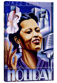 Lienzo  Billie Holiday - Roger Pearce