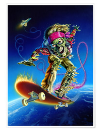 Póster  Skateboarder - Extreme Zombies