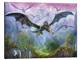 Cuadro de aluminio  The Valley Of Dragons - Dragon Chronicles