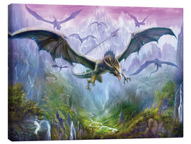 Lienzo  The Valley Of Dragons - Dragon Chronicles