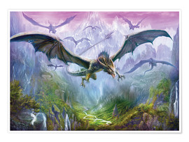 Póster  The Valley Of Dragons - Dragon Chronicles