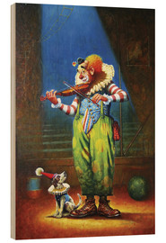 Cuadro de madera  Clown and dog - Petar Meseldzija