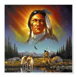 Póster  Chief eagle feather - Chris Hiett