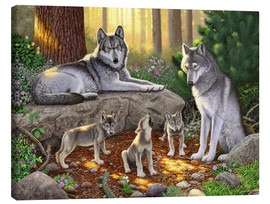 Lienzo  A family of wolves - Chris Hiett