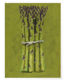 Póster  Asparagus bunch - Brian James