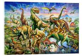 Cuadro de metacrilato  Assembly of dinosaurs - Adrian Chesterman