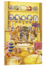 Cuadro de PVC  Cats cooking cake - Gareth Williams