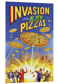 Cuadro de PVC  Invasion of the alien pizzas - Gareth Williams