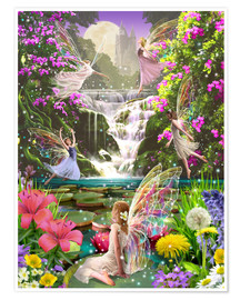 Póster  Waterfall fairies - Garry Walton