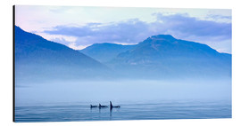 Cuadro de aluminio  Three Killer whales in mountain landscape at Vancouver Island - Jürgen Ritterbach
