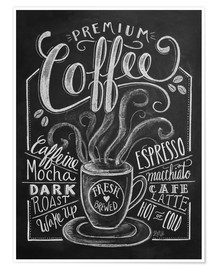Póster Premium coffee