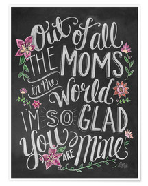 Póster  The best mom of the world - Lily & Val