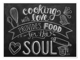 Póster Cooking with love