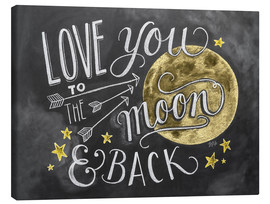Lienzo  Love you to the moon - Lily & Val