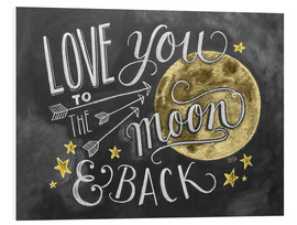 Cuadro de PVC  Love you to the moon and back (inglés) - Lily & Val