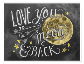Póster  Love you to the moon - Lily & Val