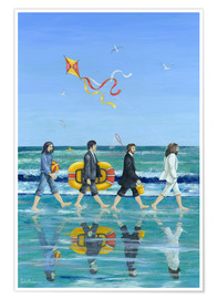 Póster  Abbey Road Beach - Peter Adderley