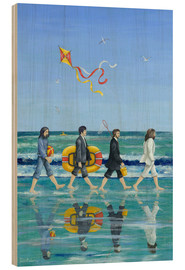 Cuadro de madera  Abbey Road Beach - Peter Adderley