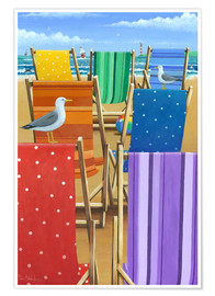 Póster  Rainbow Deckchairs - Peter Adderley