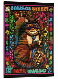 Cuadro de metacrilato  Jazz Cat - Lewis T. Johnson