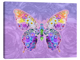 Lienzo  Purple Floral Buttefly - Alixandra Mullins