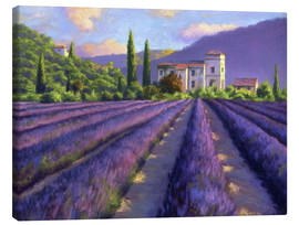 Lienzo  Lavender field with Abbey - Jay Hurst