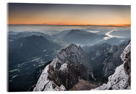 Metacrilato  Sunrise from Zugspitze mountain with view across the alps - Andreas Wonisch