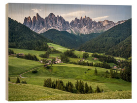 Madera  View over Funes in the Dolomites - Andreas Wonisch