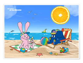 Póster  Elephant and Hare go on holiday
