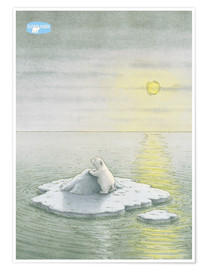 Póster  The Little Polar Bear on the ice floe