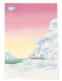 Póster The Little Polar Bear while thinking