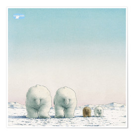 Póster  The Little Polar Bear and his family