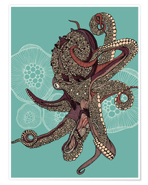 Póster Octopus Bloom
