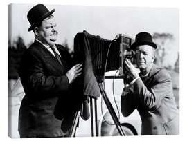 Lienzo  THE BIG NOISE, Oliver Hardy, Stan Laurel