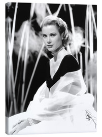 Lienzo  Grace Kelly with a tulle shawl