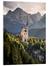 Cuadro de metacrilato  Neuschwanstein Castle in front of the Alps - Andreas Wonisch